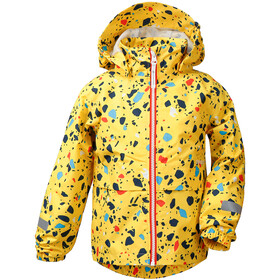DIDRIKSONS Droppen Printed Jacket Kids pollen yellow terazzo